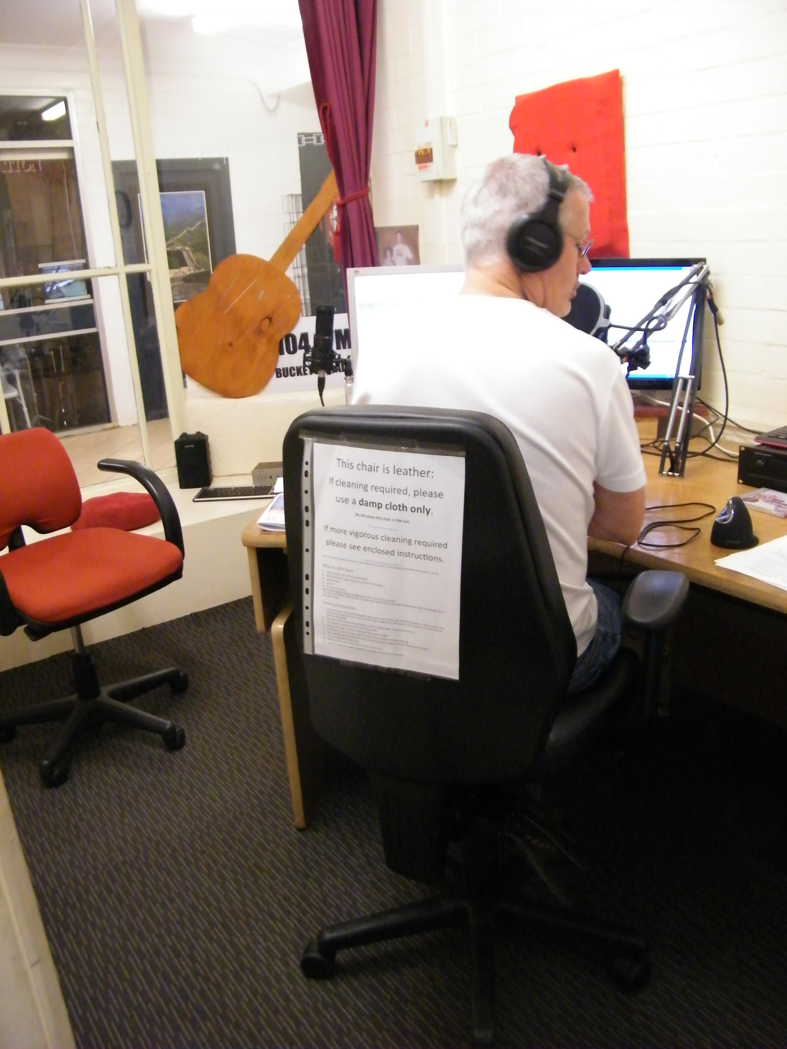 Bucketts Radio On-air Studio with Carpet