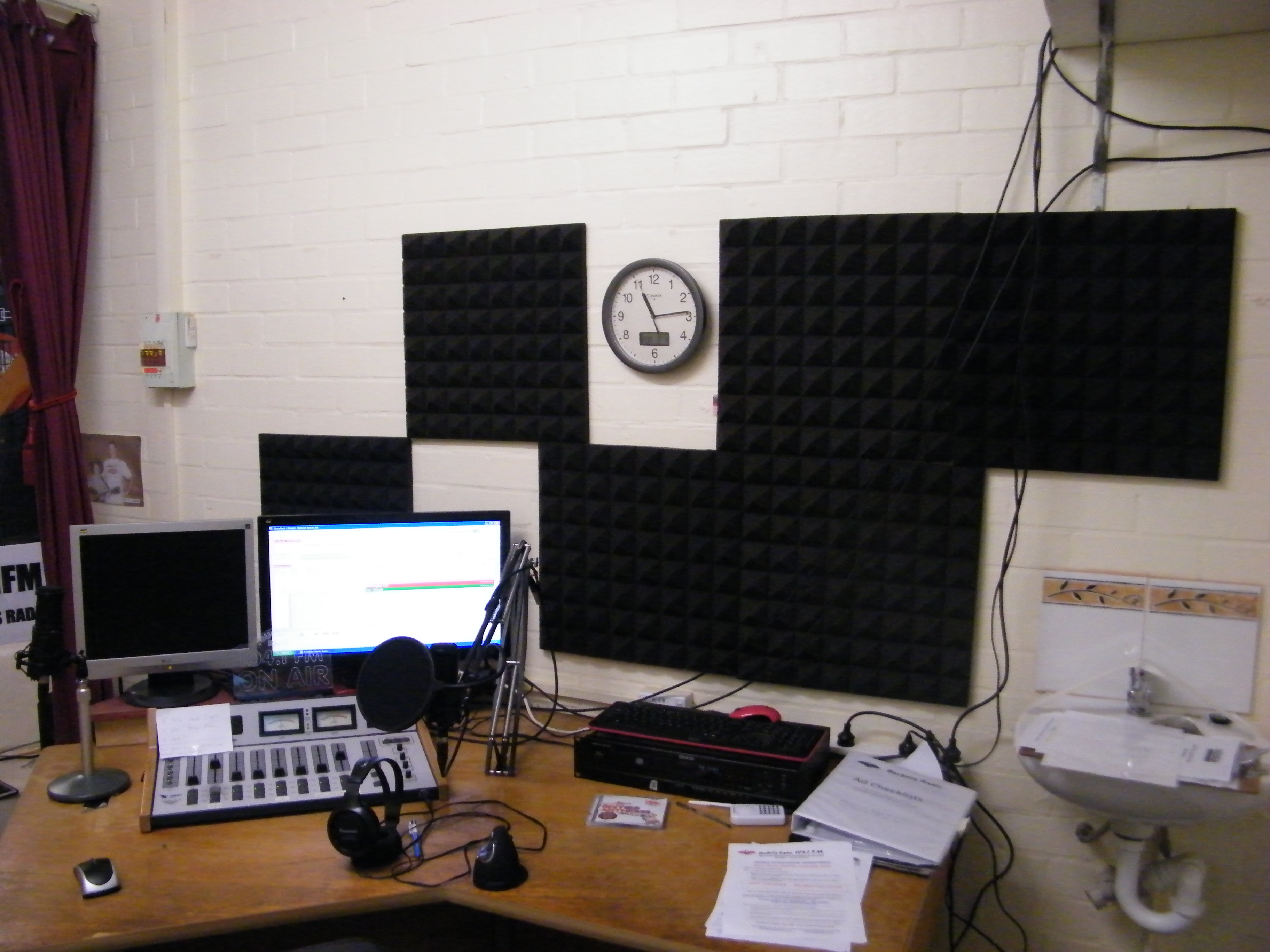 Bucketts Radio On-air Studio with Foam